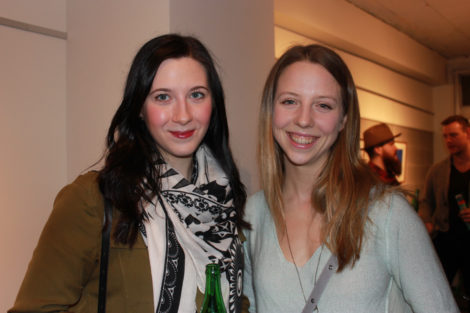 Journalists Andrea Ross and Otiena Ellwand at The Yards Spring Salon (March 10/16)
