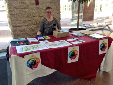 DECL parks coordinator Christie Lutsiak at the City Market Downtown (April 30/16)