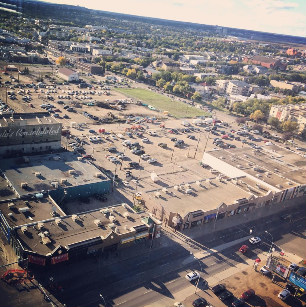 The parking behind Rogers Place